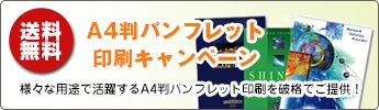 A4判パンフレット印刷キャンペーン